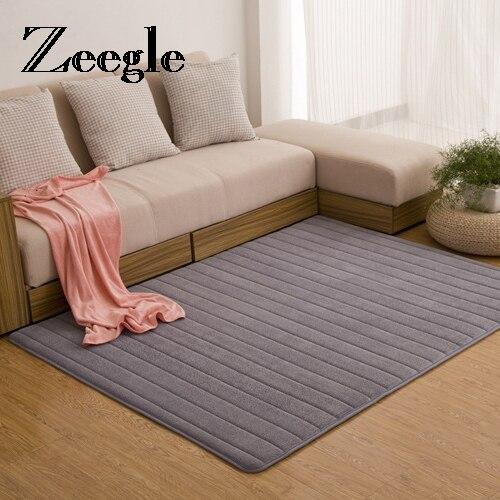 zeegle tapis de sol antiderapant en mousse a memoire de forme grande taille ideal pour le salon la salle de bain la cuisine ou le couloir