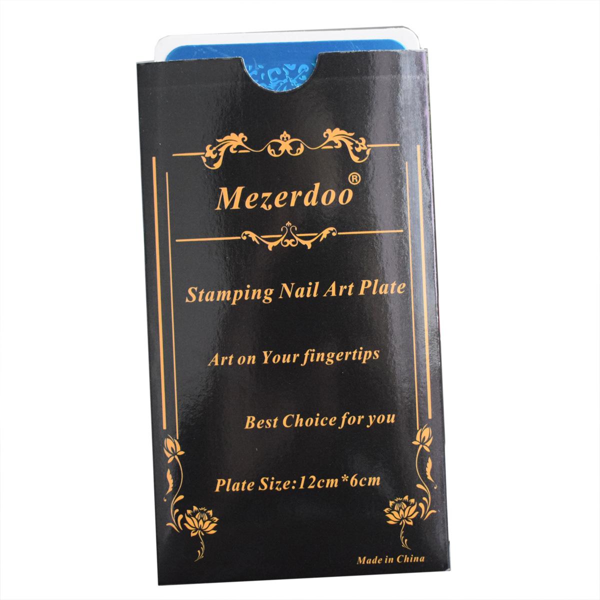 Прямоугольные пластины для стемпинга mezerdoo набор инструментов