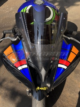 Motorcycle Wind Deflectors Wind shield Windshield WindScreen With Carbon Fiber For Yamaha YZF R6 2008 - 2017