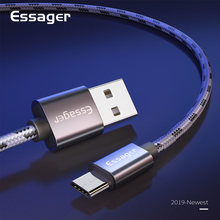 Essager USB C 3A Fast Charging Cable Type C Cable for Samsung S10 S9 Note 10 9 Huawei P20 P30 Pro Mate 20 Oneplus 7 Data Cable
