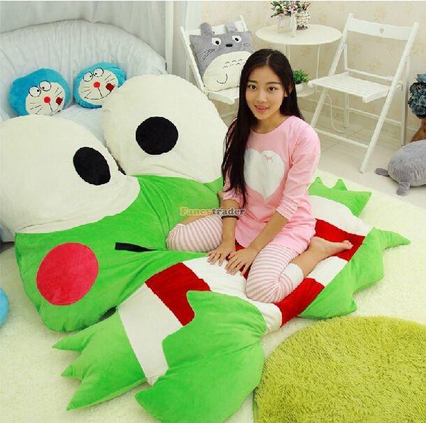 Fancytrader  180cm X 165cm Soft Funny Giant Big eye Frog Bed Carpet Tatami Sofa, FT50317 (6)