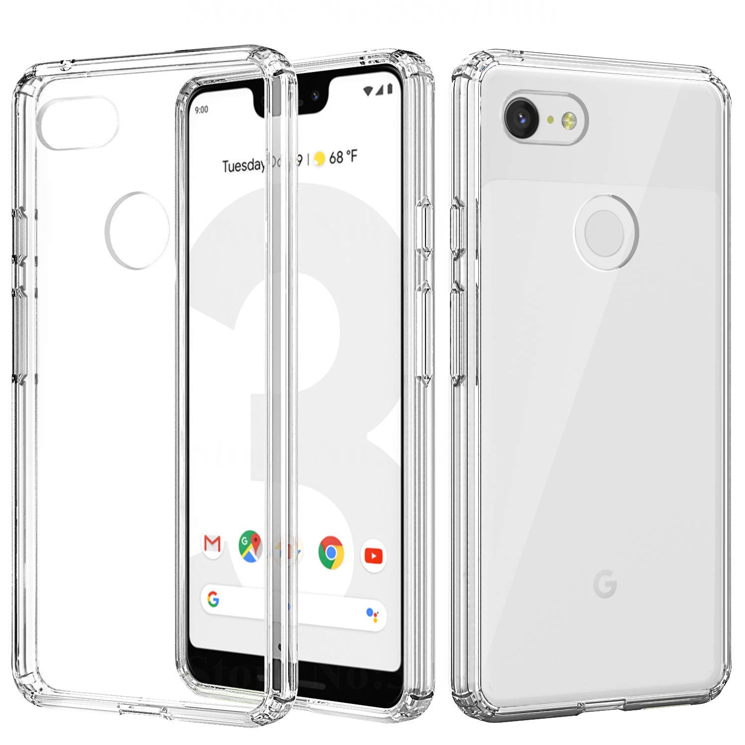 more photos a83cd 51bab Clear Soft Silicone Back Cover Phone Case For Google Pixel 3 XL Pixel 2 XL  Transparent Case For Google Pixel 3 2 Case Cover