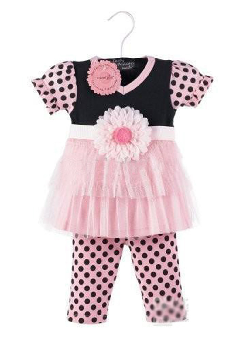Shirt design for baby girl - Best 2016 Design Girl Baby Clothing Set Fashion Lace Flower T Shirt Polka Dot Leggings 2pcs Suit Brand Girl Kids Clothing Casual Sets Product