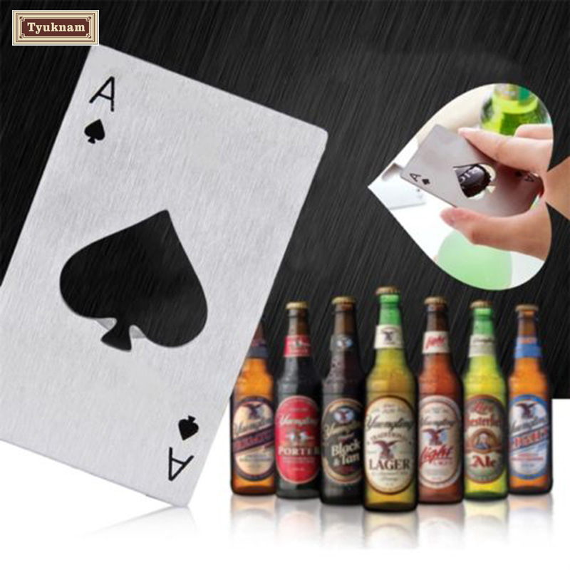 New Stylish Poker Playing Card Ace Gallant Spades Bar Tool Beer Bottle Opener, Bar Tool Bottle Soda Beer Cap Opener Gift