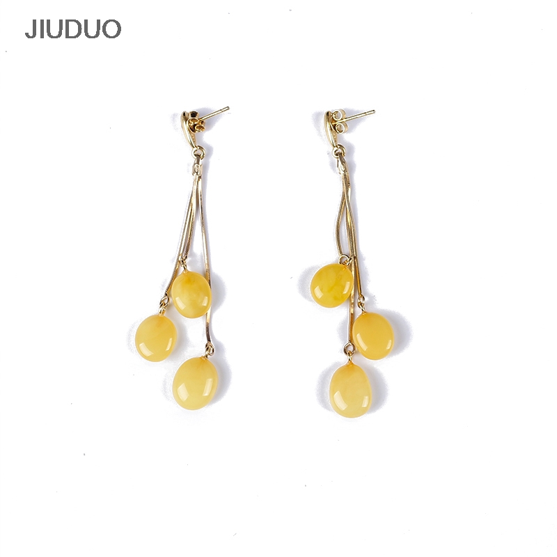 Amber Pendant Earrings 925 Sterling Silver Earring for Women Natural Amber Trinket For Jewelry amber earrings for women blood po earrings sterling silver egg shaped amber factory price authentic fidelity page 1
