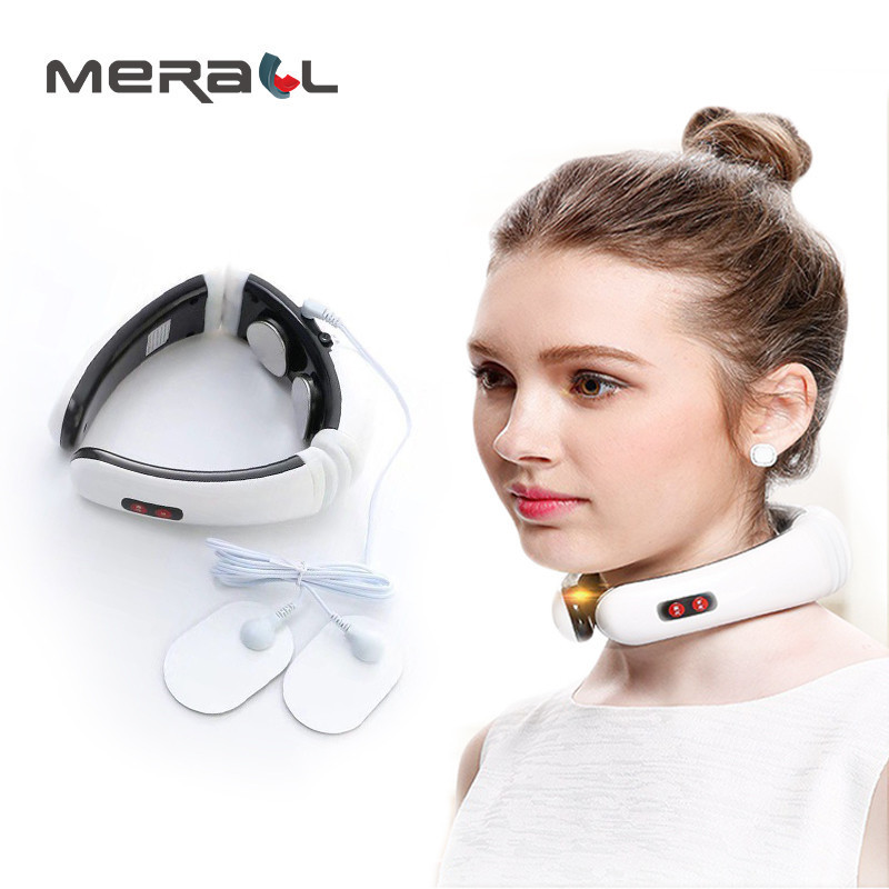 3D Smart Electric Neck Massage Vertebra Shock Pulse Magnetic Physiotherapy Multi-Function Cervical Health Fashion Instrument | healthy feet socks