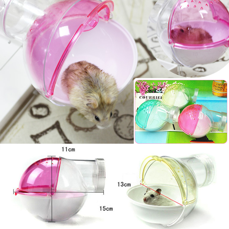 Home Nice 1pcs Clean Wash Pet Convenience Cute Villa Bathroom Pet Bowl Bath Room Sauna Room Round Type Bath Sandbox