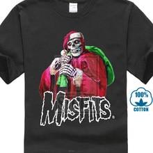 51013b01cc3ab Vtg Misfits Santa Skeleton Christmas 2003 Punk Rock Rare T Shirt Gildan  Repro(China)