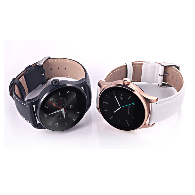 Round Smart Watch Men Leather Strap Wrist Watches Women Fitness Heart Rate Sleep Monitor Pedometer Clock For iPhone IOS Android стоимость