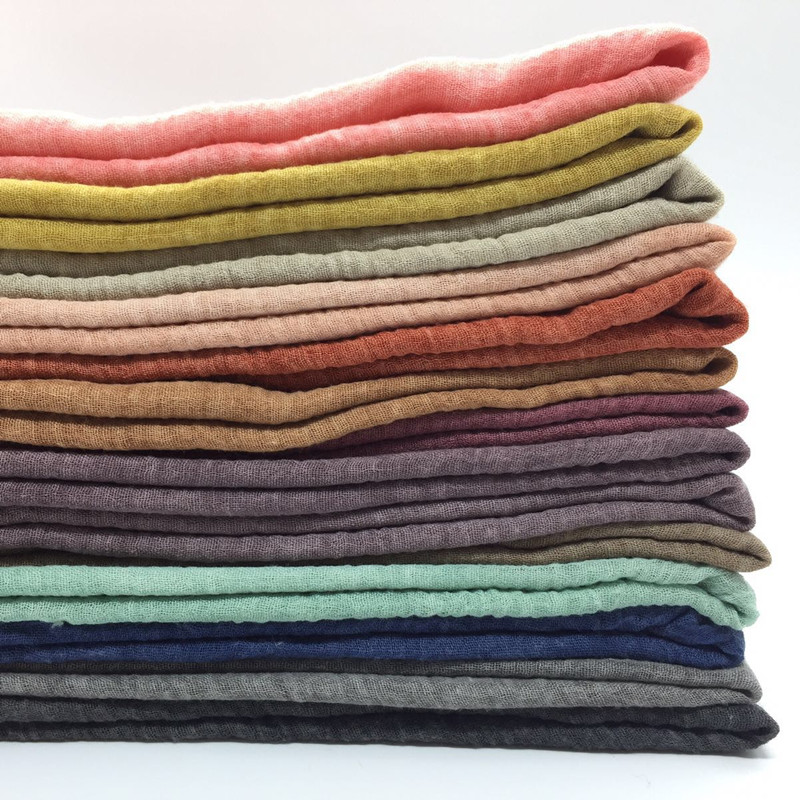 Womens Big size wrinkle cotton scarf plain solid soft crumple shawls soft tassel all edges hijab muslim 14 color scarves/scarf