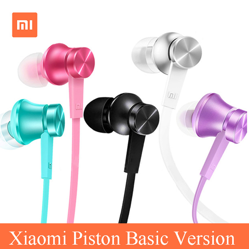 XIAOMI piston 3 Colour Version In-ear Mi earphone earbuds for Redmi 5 5A 5 plus 4 4A 4X note4 4X Xiaomi Mi piston 3 earphones(China)