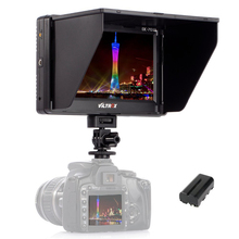 Viltrox 7'' DC-70II Clip-on TFT HD LCD 4K Camera Video Monitor Display HDMI AV Input for Canon Nikon DSLR BMPCC + Free battery