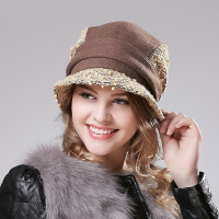New Autumn And Winter Ladies Outdoor Foldable High End Temperament Face Lift Woolen Hat 0422