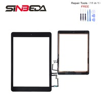 Sinbeda Touch Screen Digitizer+Button+Flex Cable +Adhesive Parts Black or White Full Assembly For iPad Air 5 5th A1474 A1475