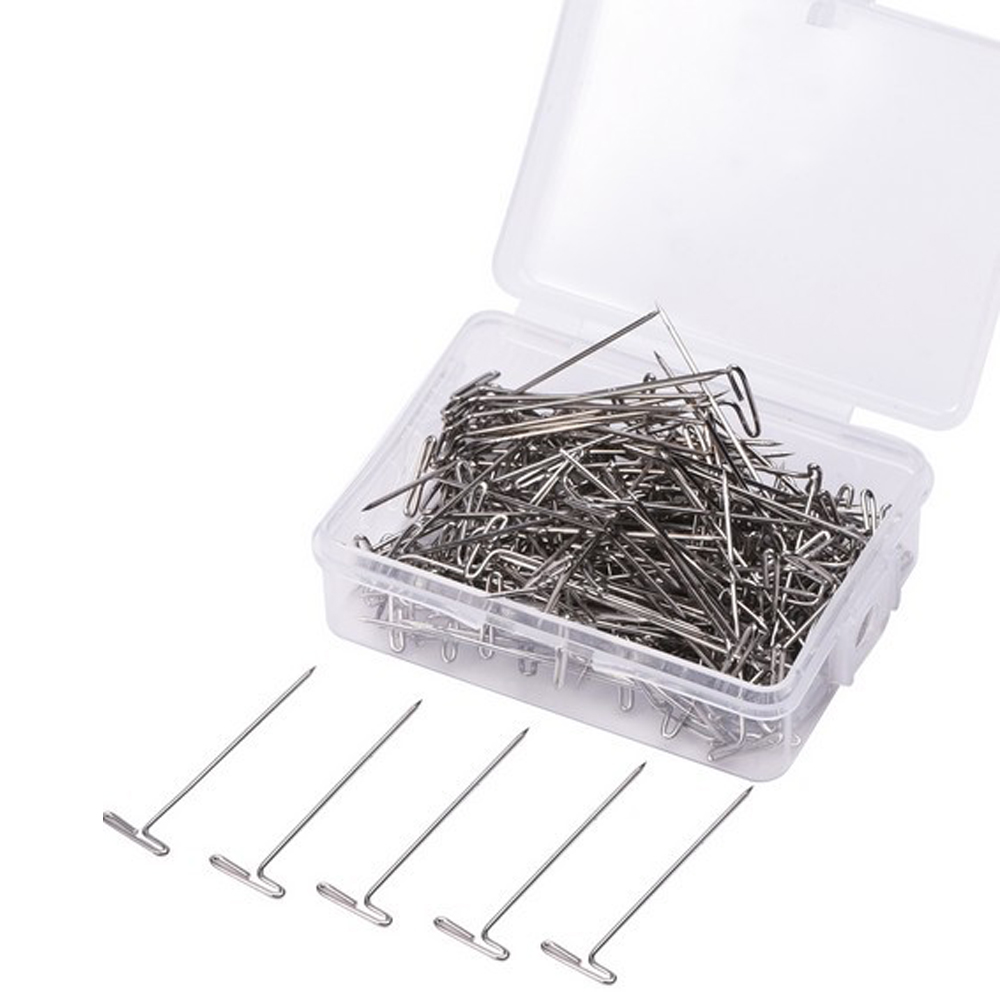 Metal 32mm T Pins For Modelling Macrame Wigs Sewing Craft T-pins 500pcs/lot