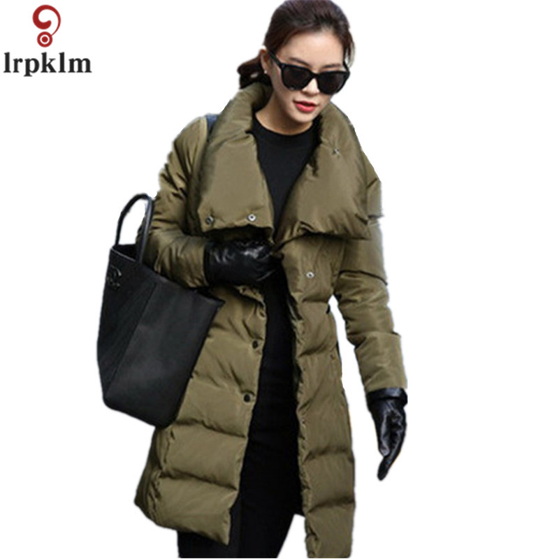 цены 2017 New Autumn Winter Women Coat Fashion Female Army Green Jacket Women Parkas Casual Jackets Parka Wadded Jacket Cotton LZ190