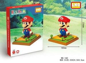 Image 4 - LNO Mini blocks mini super mario yoshi action figures plastic building cartoon diy model bricks funny educational toys for kids