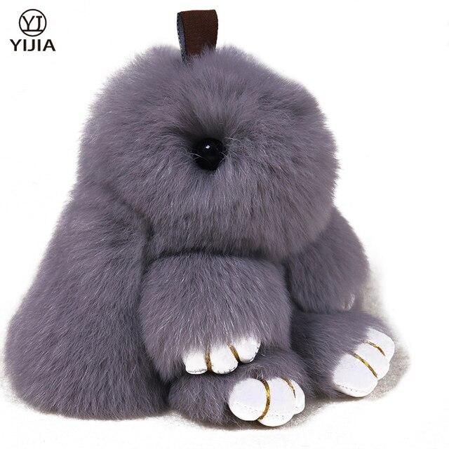 Рождественские Подарки Рекс Мао Mengmeng Действительно Маленький Кролик Кулон Ключа Автомобиля Цепи Мешок Украшения Лохматый Кролика Аксессуары regalo