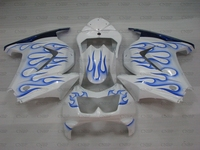 Ninja 250R 08 09 Abs Fairing EX250 2008 2014 White Blue Frame Body Kits EX 250 2009 Fairing Kits