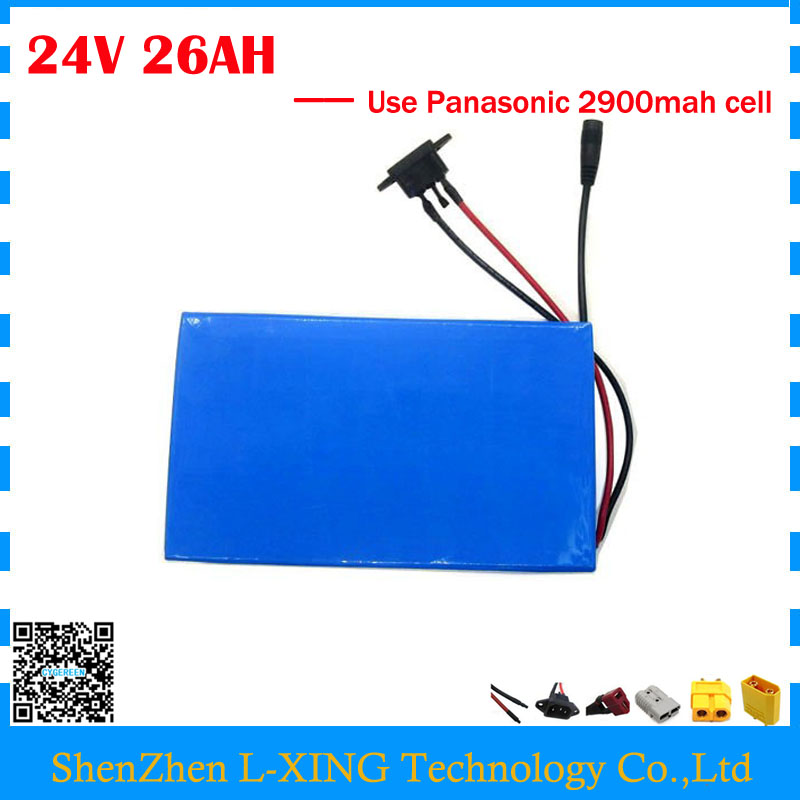 Free customs fee 24V 26AH li-ion battery 24V 26AH ebike battery with PVC Case use NCR18650PF 2900mah cell 30A BMS 3A Charger free customs taxes super power 1000w 48v li ion battery pack with 30a bms 48v 15ah lithium battery pack for panasonic cell