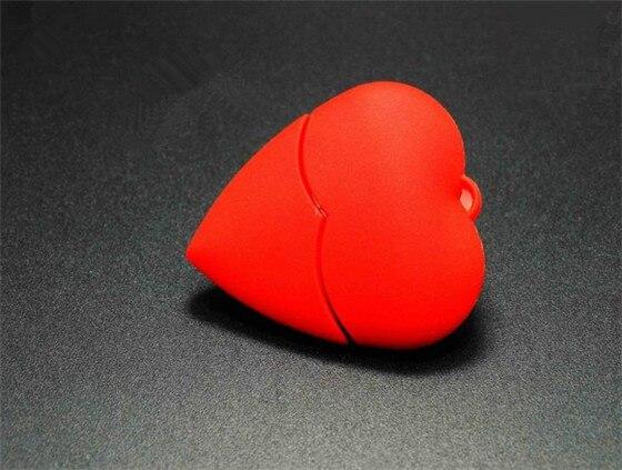 Red heart wedding gift USB Flash 2.0
