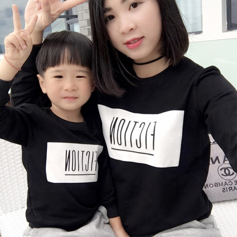 Mother Daughter tshirts white black Matching baby boy shirts son and father hoodies Family Matching Clothes hooded sweatshirts