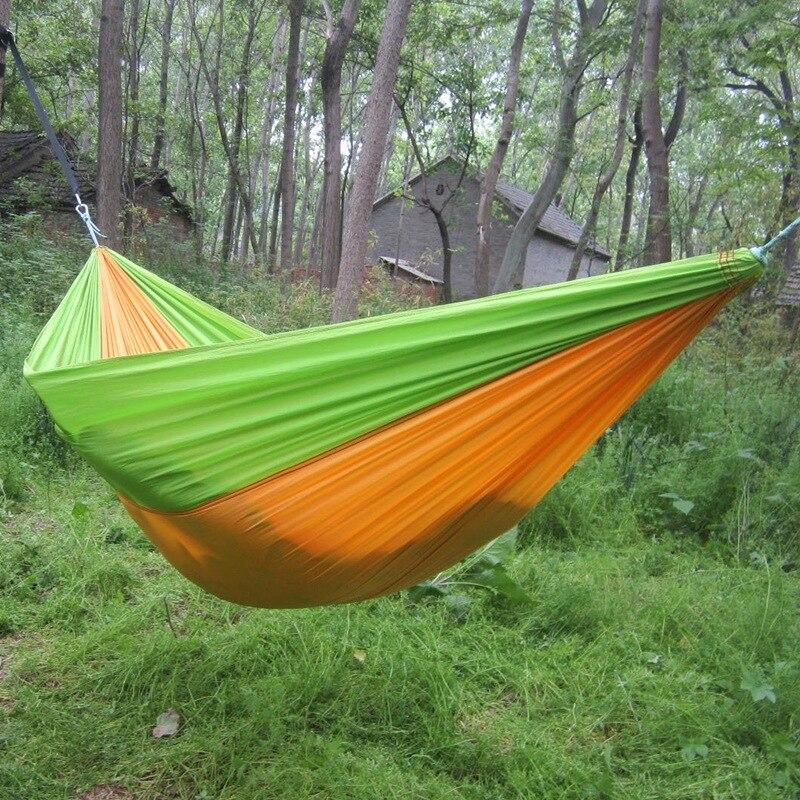 2 человек Портативный Парашютом Нейлона Гамак Сад Открытый Отдых Путешествия мебель для выживания гамак качели спальная кровать