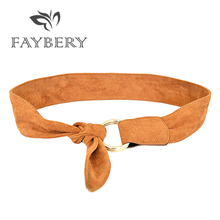 Luxury Flannelette Wide Belts for Women Golden Circle Buckle Designer High Quality Wedding Belt Famous Brand