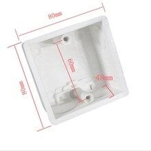 10 stücke Externe montage box 80mm * 80mm * 60mm, geeignet für 86 standard schalter und steckdose geeignet für jede position auf die wand