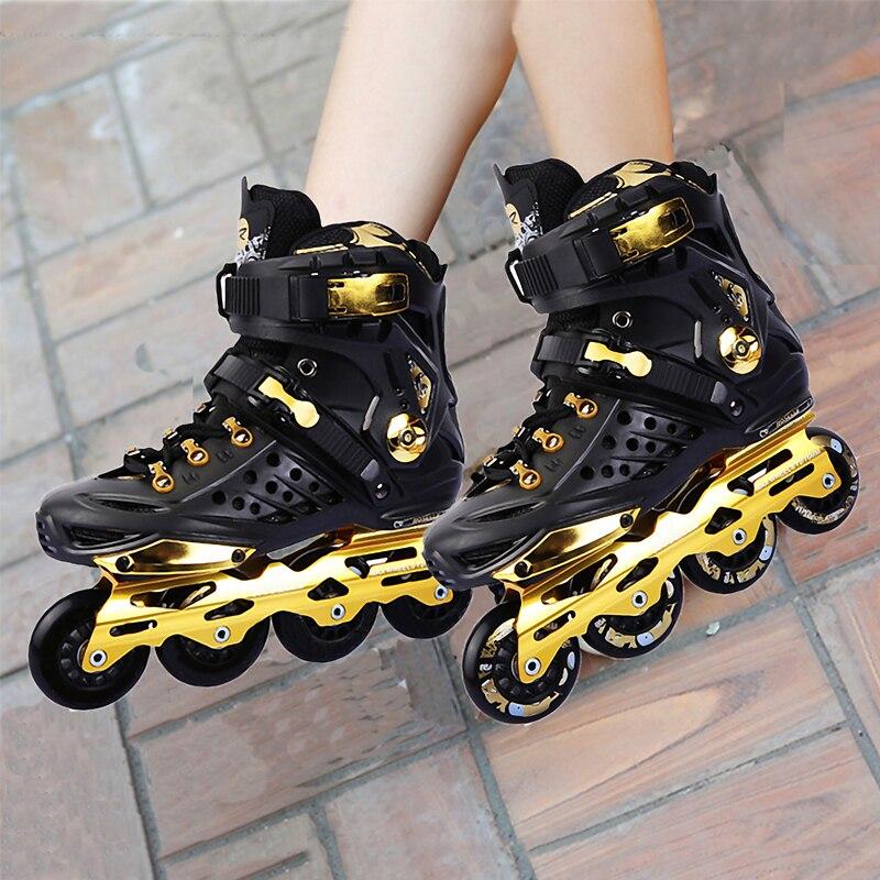 Black White Skate Adult Roller Skates Men And Women Roller Skate Shoes -3775