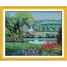 Everlasting love Beautiful homeland Chinese cross stitch kits cEcological cotton stamped DIY 11CT New year Christmas decorations