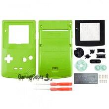 Botões com Len Tela Sólida verde Shell Habitação Completa para Nintendo Game Boy Color-GBC007