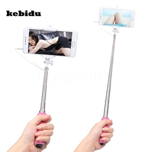 kebidu Portable 10cm to 40cm Extendable Selfie Pole Mobile Phones Monopod Stick Tripod for iOS Android System without Bluetooth