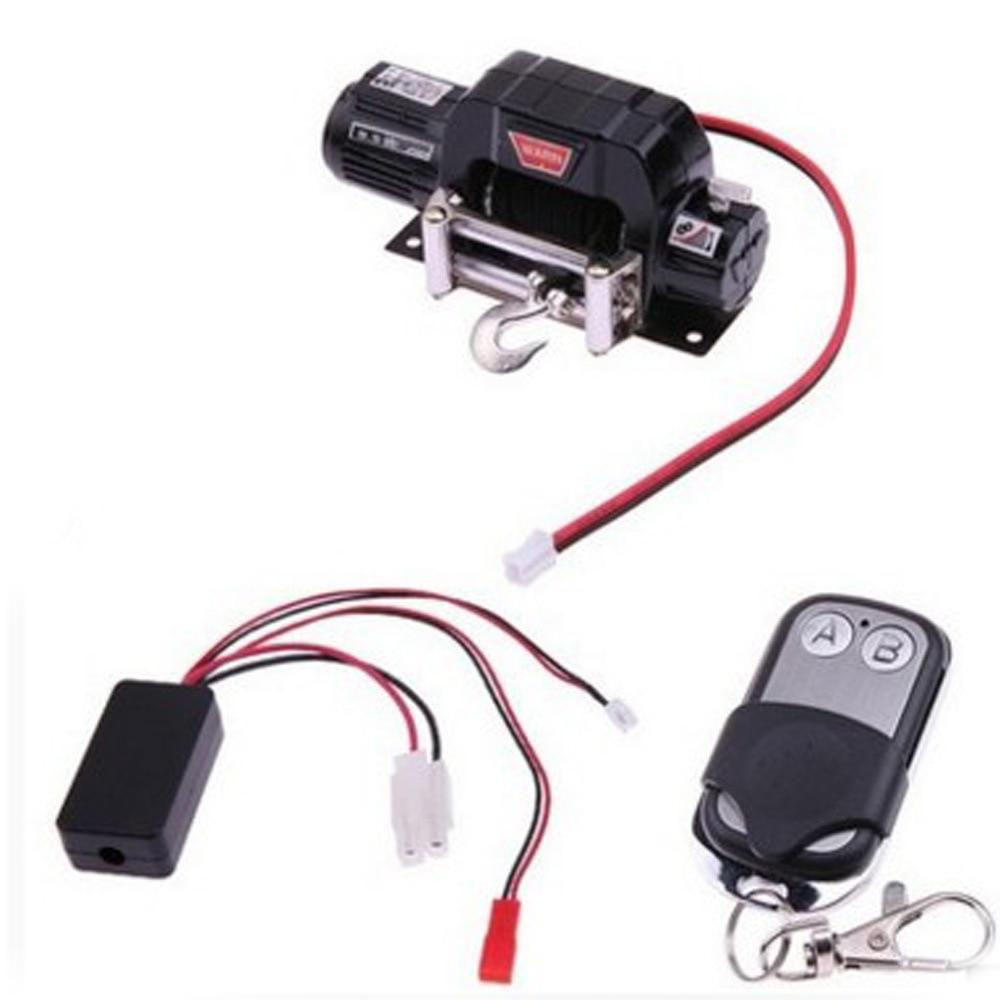 Treuil électrique en métal de voiture RC avec ensemble récepteur à distance pour camion axial scx10 à échelle 1:10 jeep 90046 4wd D90/110 TRX4