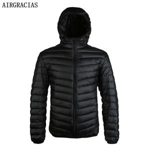 Image 1 - Airgracias 2017 Новое поступление белая утка Пух куртка Для мужчин осень зима теплое пальто Для мужчин свет тонкий утка пуховое пальто LM005