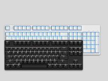 Likeyboard mx-104 mx-87 Игры Механическая клавиатура белого и синего цвета с подсветкой Cherry MX коммутаторы