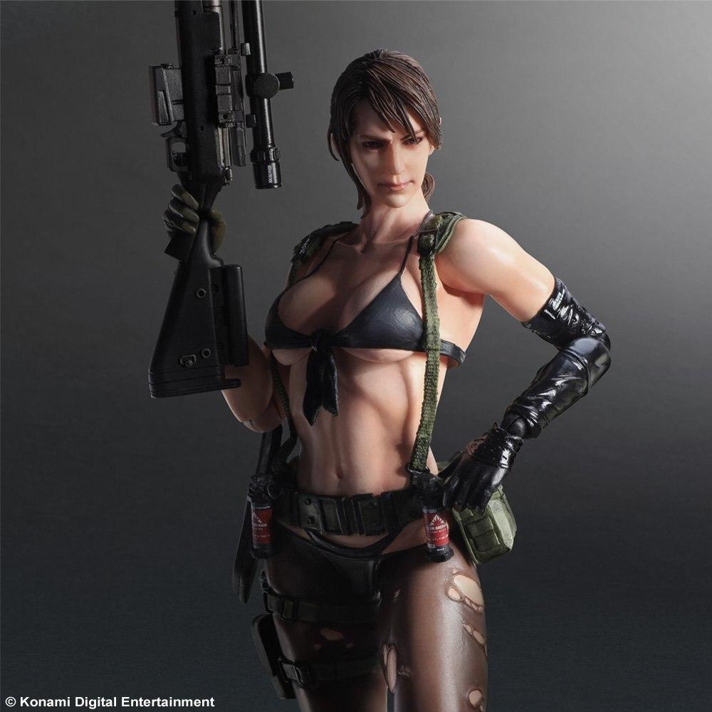 PLAY ARTS 27cm Metal Gear Quiet Action Figure Model Toys quiet riot quiet riot metal health