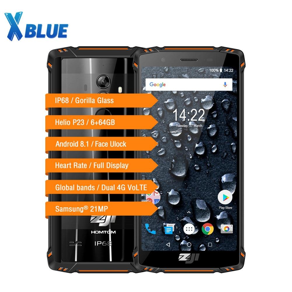 Original 5 7 Inch HOMTOM ZOJI Z9 4G Smartphone MTK6763 Octa Core 6GB RAM 64GB ROM