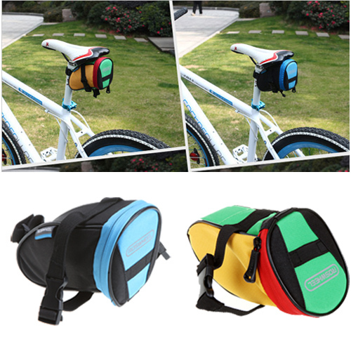 ROSWHEEL Waterproof Mountain Road Bicycle Tail Bag Saddle Bags Bike Pouch Reflective Cycling Seat Bag 4 Colors