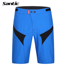 Santic Leisure Cycling Shorts Blue Loose Baggy Mountain Bike Shorts MTB Shorts Bicycle Bermuda Ciclismo Padded Underwear 2017