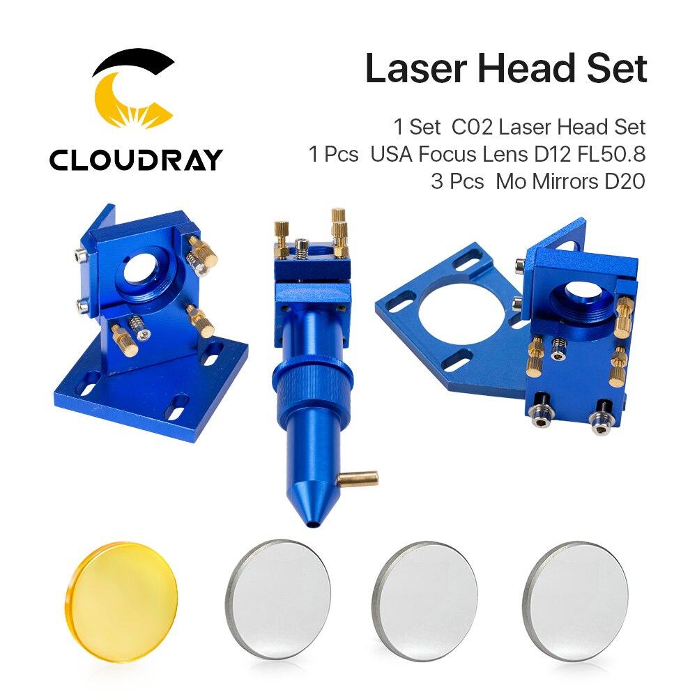 K Serie: CO2 Laser Kopf Set für 2030 4060 K40 Laser Gravur Schneiden Maschine