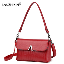 Lanzhixin Middle-aged Mother Bags Soft Small Flap Bag Handbags High Quality Crossbody Bags For Women Messenger Bags Vintage 1065