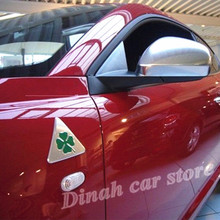 2 шт./лот зеленая Дельта для Alfa Romeo mito 147 156 159 Giulietta Giulia Spider GT стикер Fender для автомобиля эмблема значок Логотип Аксессуары