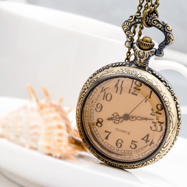 Dark-Brown-Glass-Necklace-Quatrz-Pocket-Watch-Bronze-Chain-Mens-Giftfashion-personality-wild-long-necklace-sweater.jpg_640x640