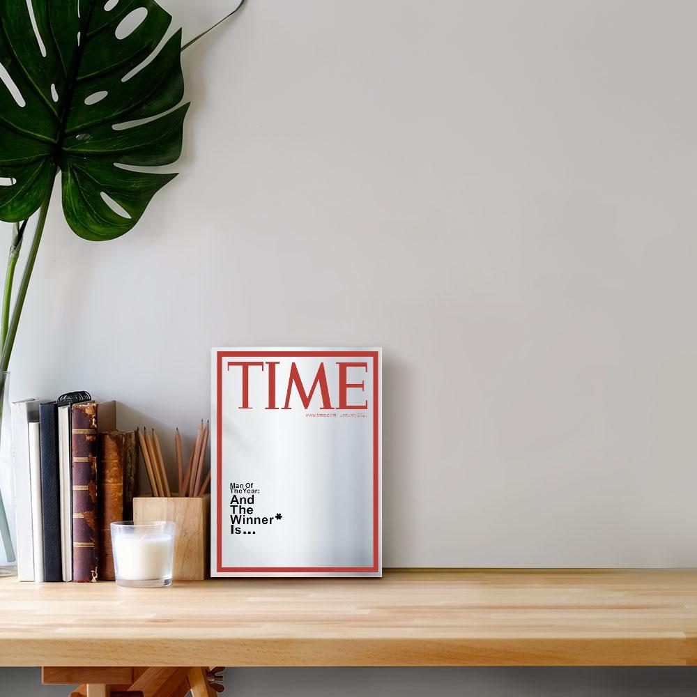 Time Magazine Cover Spiegel Man van het Jaar Opknoping Spiegel voor in jouw Mancave Thuis Bar Muur Decor  3