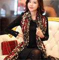 1Piece Red Leopard Stylish Long Soft Silk Chiffon Scarf Wrap Shawl Scarves For Woman Lady Girls