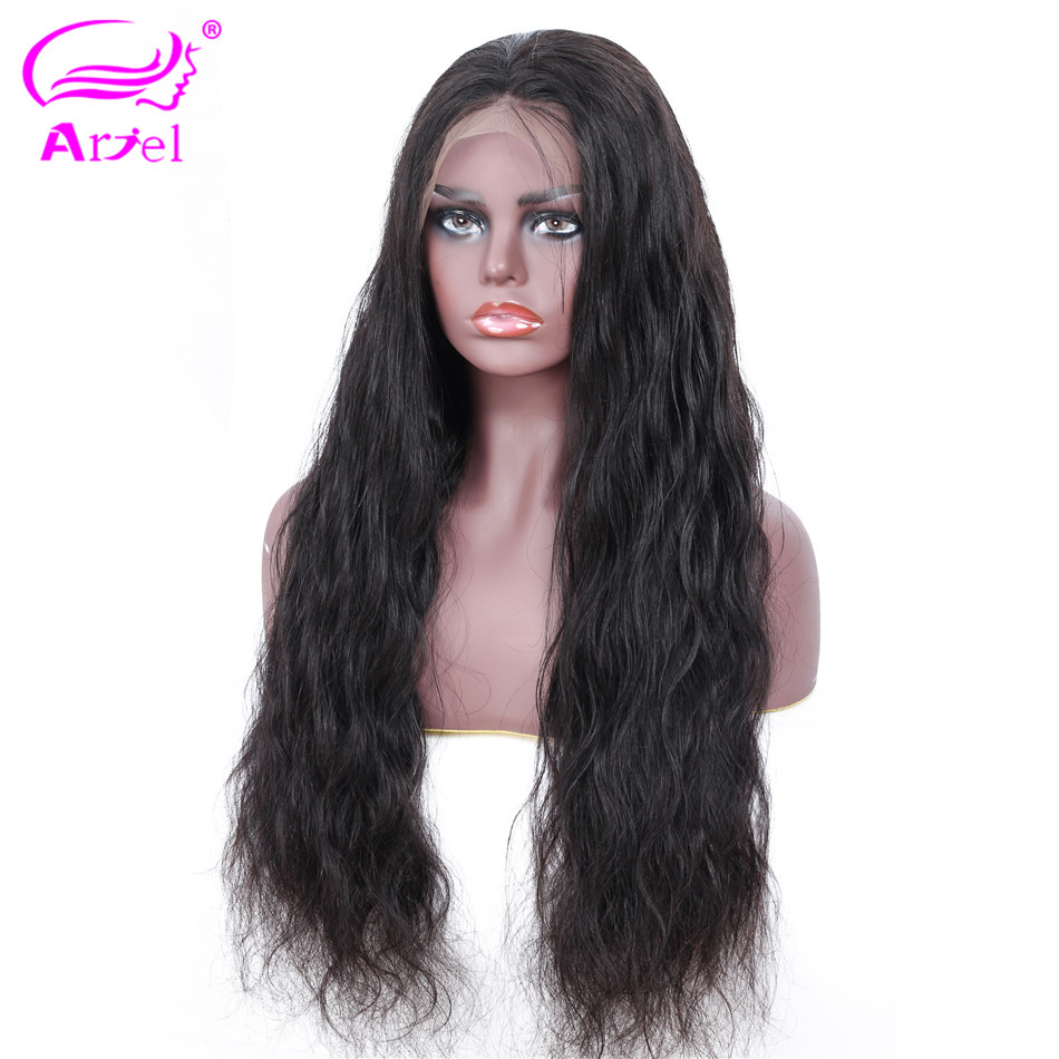 ARIEL Body Wave Lace Front Human Hair Wigs For Black Women Pre Plucked Peruvian Remy Hair