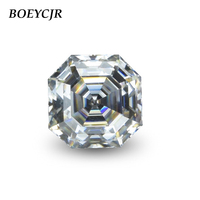 BOEYCJR Custom D Color Asscher Cut Brilliant Cut Moissanite Loose Stone Excellent Cut Jewelry Making Engagement Ring