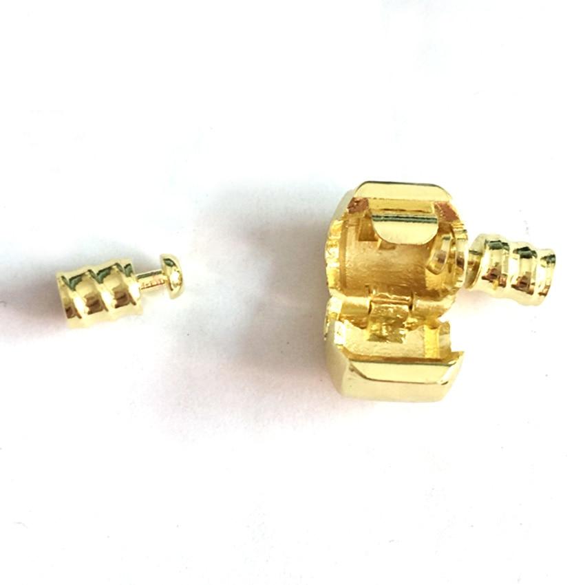 100pcs Gold Color Clasp for leather bracelets