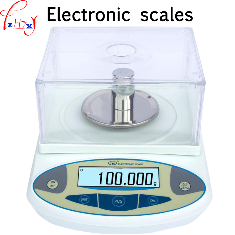 High precision electronic balance scale 300g/0.001g laboratory weighed small scales and weighed the counting scales AC220V/9VDC 500g 0 5g lab balance pallet balance plate rack scales mechanical scales students scales for pharmaceuticals with weights